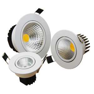 cob led downlight high power 9w 15w 20w dimmable led down lights recessed lamps ac 110-240v