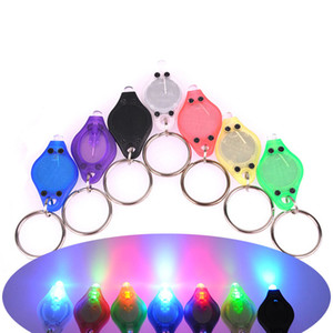 Luz LED Llavero Party Favor Purple UV LED Llavero Detector de dinero luz led protable light Llaveros Llave del coche Accesorios WX-K53
