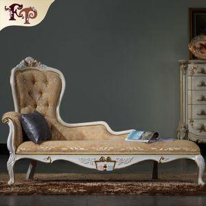 Luxury Chaise Lounge 프랑스 고전 가구, 유럽 고전 고전 가구 골동품 단단한 나무 chaise loungue 무료 배송