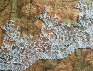2016 Weiß und Elfenbein Spitzenkleid Zubehör Brautkleider Spitze Stoff