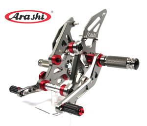Arashi para YAMAHA MT07 FZ07 2014-2015 CNC Rear Sets Rearset Foot Peg Footpeg reposapiés MT-07 FZ-07 FZ 07 MT 07 2014 2015