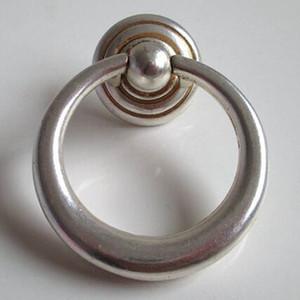Rustico vintage de plata antiguos de latón perillas de muebles inestable anillo de gota cajón zapato armario vestidor puerta puerta tirador perilla manija