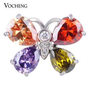 NOOSA Snap Charms Butterfly CZ Stone Jewelry 18mm 4 Colores Drop Cobre Material Botón Vn-1405