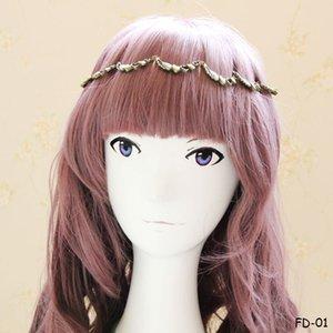 Старинные сердце крыло сплава оголовье богемной Лолита металл цветок розы волос гирлянда группа лоб повязка для волос ручной работы волос повязки для женщин