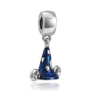 Bule Diamond hipopótamo Europea Beads Fit Pandora encantos bolas plateadas plata Star Witch Hat colgante cuelga para la fabricación de joyas de bricolaje
