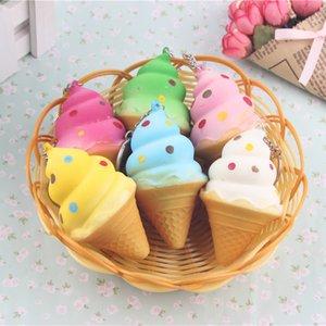 30 шт. / лот новый Squishy мороженое конус телефон ремни хлеб душистые мягкие брелки игрушки squeeze игрушка squishy мобильные аксессуары Оптовая