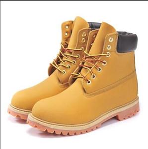All'ingrosso Free Ship Inverno Snow Boots Uomini di marca in vera pelle impermeabile stivali esterni in pelle di mucca scarpe da trekking per il tempo libero stivaletti