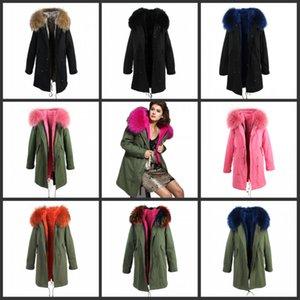 giacche invernali in pelliccia parka, donne sottili 2017 grande spessore reale con mantello cappotti Luxus Faux Fuchs va outwear top qualità feed di marca