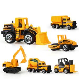 6types / Lotto Model Engineering Car Set Construction Vehicle Set Diecast Dump-car Dump Truck Cool regalo di compleanno per i bambini