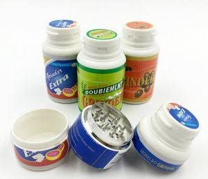 mâcher bouteille gommées Grinder 3 parties 45 * 75mm meuleuses tabagisme CNC métal Spice pollen Crusher Outils Accessoires tuyaux