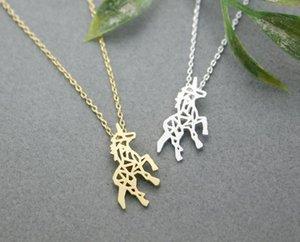 Vendita calda hippie chic hollow-out la collana del pendente del cavallo donne della moda bohemien Neclaces 2016 collana sottile m.mo festival migliore regalo