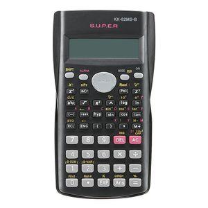 Multi-função Handheld 2 Line Calculadora Científica de Exibição 82MS-A Calculadora Multifuncional Portátil para Ensino de Matemática
