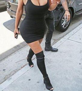 Zapatos de mujer Botas sobre la rodilla Botas altas de muslo sexy Verano Damas Moda Tacones altos Botas Zapatos Mujer