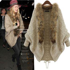 Nuevo diseño de moda de invierno para mujer Vintage Cardigan Cuello alto Ribbed Cable Knit Panel Fit manga larga Maxi suéter Jumper vestido