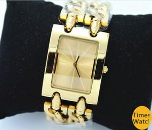 سوار الفولاذ المقاوم للصدأ GS ساعة اليد أعلى الساعات النسائية الفاخرة العلامة التجارية الشهيرة سيدة اللباس ووتش هدايا ذات جودة عالية