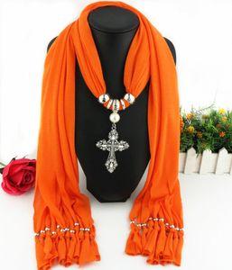 Yeni Beyanı kolye Moda Kadın fular kolye püskül boncuk kristal Vintage Pendant fular Kolyeler Bijoux çapraz