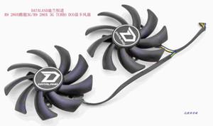 Новый оригинал для Dataland R9 280X 3G TURBO DUO R9 видеокарты вентилятор охлаждения