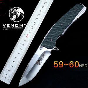 Kevin John tactique pliant couteau 59HRC S35VN lame G10 poignée extérieure rapide ouvert utilitaire camping survie couteau portant couteau EDC outil