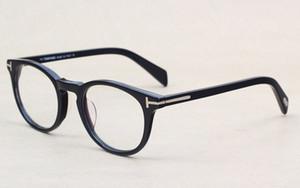 Klasik Retro Şeffaf Lens Optik Çerçeveler Gözlük Erkekler Kadınlar Gözlükler 6123 Vintage Plank Gözlük Miyop Gözlük Çerçevesi