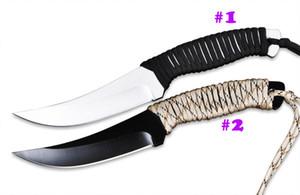 Cuchillo de buceo Bowie Blade de calidad superior 440C SatinBlack Blade Acampar al aire libre Senderismo Pesca Supervivencia Rescate Cuchillos de nylon