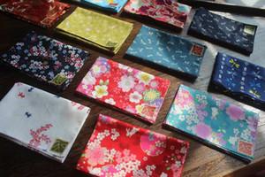Fazzoletto Furoshiki in stile giapponese stampato (6 pezzi / lotto) / 100% cotone stampato 35 cm donna Gilr fazzoletto per bambini signore