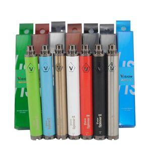 Горячая Vision Spinner 2 аккумуляторная батарея ecig огромная пара Vape Pen переменного напряжения батареи подходят CE4 MT3 Распылитель Испаритель VS evod твист DHL БЕСПЛАТНО