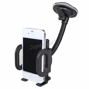 Titular del soporte del montaje del clip de vidrio del parabrisas del coche para el teléfono móvil GPS PDA MP4 Práctico práctico de 360 grados Soporte giratorio Soporte de cuna ajustable del automóvil