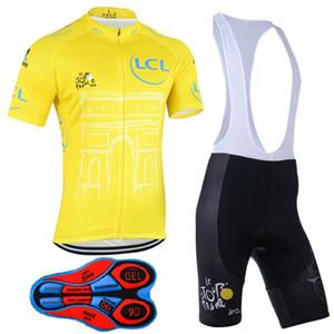Camiseta ciclista Tour de France, equipo profesional, verano, pantalones cortos de manga corta, bicicleta, deporte al aire libre, transpirable, Lycra, Sportswea.