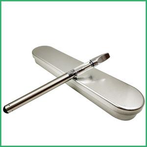 510 Pre Riscaldamento o Penna Fondo micro caricatore USB Scatola di metallo kit BUD Pyres SS CE3 cartucce di vetro Vaporizzatore ad olio denso vaporizzatore Serbatoio di cera Vape