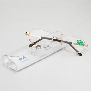 Vollmetallrahmen Glaslinsen Weiblich Männlich Lesebrille Frauen Männer Unisex Brillen +100 bis +450