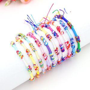 Großhandel Schmuck Lots Nautischen Knoten Armbänder Cords Strands Cotton Braid Freundschaft Armbänder 10 Farben