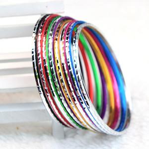 Marke Neue 100 Stücke Multi-farben Schöne Mode frauen Aluminium Mischarten Schmuck Armreifen Armbänder großhandel job lot