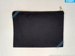 1pc 12oz 모조 금 우편을 가진 순수한면 화포 화장품 부대 Unisex 우연한 동전 지갑 일치하는 색깔 안대기 7x10in를 가진 공백 메이크업 부대