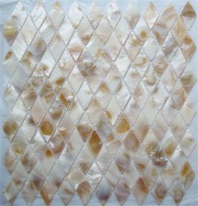 100% Chinese freshwater shell mother of pearl mosaic tile for interior house decoration wall tile natural dapple color rhombus pattern