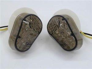 2x JDM Estilo Flush Mount Lente de Fumaça 15 Âmbar LEVOU Luz indicadora de pisca-pisca pisca-pisca indicador lateral para yamaha yzf r1 r6 2003-2008