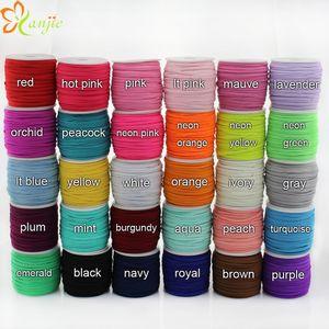 Kadınlar için Toptan-30colors 1/8 Sıska Elastik 3mm Genişliği 50yards / rulo DIY Bebek Bantlar Saç Aksesuarları Şapkalar SİZE 3 renkleri seçin