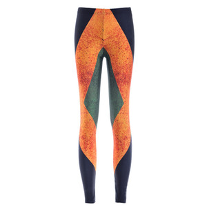Donna Fashion Jamaica Flag Galaxy Leggings Black Diving Pants Stampato Sky Space Elastico Respirare Natale Caldo Jeggings Slim Tights
