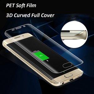لاجهزة جالكسي نوت 8 S8 + S8 سوفت بيت كلير فيلم 3D منحني كامل غطاء واقي شاشة أمامي لهواتف سامسونج S7 S6 ايدج بلس (زجاج غير مقسى)