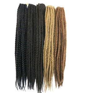 Kanekalon синтетические 3X коробка плетение волос 24 дюйма 110 г крючком косы твист наращивание волос подгонять любой цвет