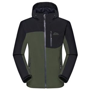 Toptan-erkek Kış Kalın Softshell Ceketler Erkek Açık Spor Mont Rüzgar Geçirmez Sıcak Kamp Trekking Yürüyüş Kayak Marka Giyim