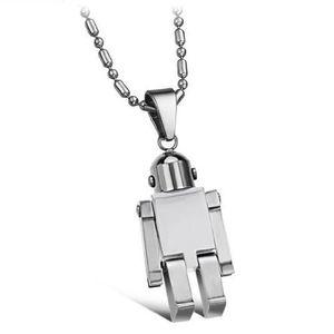 Mode Coole Roboter Figur Transformable Anhänger Silber Edelstahl Anhänger Für Frauen Männer Anhänger Halskette Schmuck