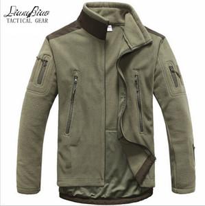 가을 - 남자 전술 의류 가을 겨울 양털 군대 재킷 softshell 야외 사냥 의류 남성 softshell 스타일 자켓