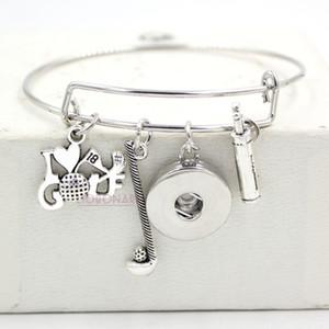 Оптовая Оснастки ювелирные изделия Спорт сумка для гольфа я люблю гольф браслеты браслет подарок проволока регулируемая расширяемая Оснастки кнопка браслеты ювелирные изделия