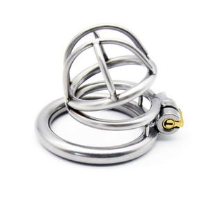 2019 El último diseño de jaula de acero inoxidable para hombre dispositivos de esclavitud doble pico forma juguetes sexuales para hombres cinturón de castidad pene anillos bdsm sm