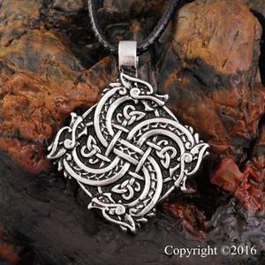 Nuova collana punk norrena Vikings testa del lupo della collana di originale animale Collana della testa del lupo hange guerriero Amulet Pendant