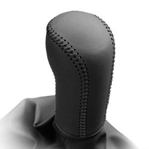 폭스 바겐 올 포 폴 2004 Lavida 2011 수동 변속 고리 용 Gear Covers 정품 가죽 기어 커버 Hand-stitched