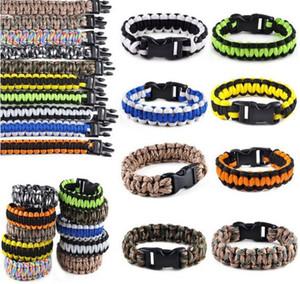 Mix Color 200 Team Paracord Survival Bracelets Custom Made Camping Sports Bracelet NCAA College Charm team umbrella bracelet