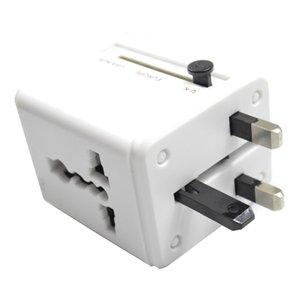 Evrensel Uluslararası Tak Adaptör Tüm Plug dönüştürücü biri 2 USB Bağlantı Noktası Dünya Seyahat AC Güç Şarj Adaptörü AU ABD UK AB'de
