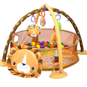 3 IN 1 Lion Tortoise Cartoon Baby Activity Gym & Ball Pit Pool Indoor Safe Play Mats