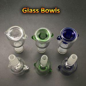 10mm 14mm 18mm Glasschüssel Weibliche Männchen 14.4mm 18,8mm Glasschüsseln mit Wabenbildschirm Runde Schüssel Ash Catcher Glas Rauchbong